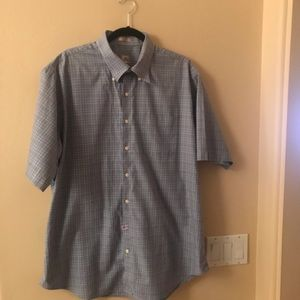 Mens Peter Millar Short Sleeve Button Down Shirt